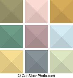 kleurrijke, abstract, plat, pictogram, achtergronden
