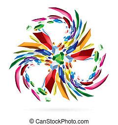 kleurrijke, abstract, ster