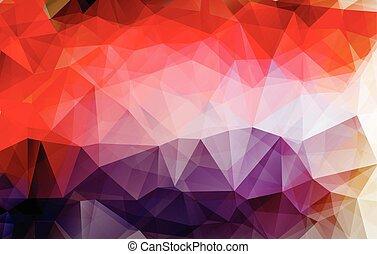 kleurrijke, abstract, style., geometrisch, achtergrond, laag, template., driehoekig, vector, grafisch ontwerp, poly, rumpled, illustrator
