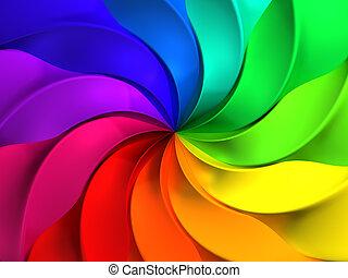kleurrijke, abstract, windmolen, model, achtergrond