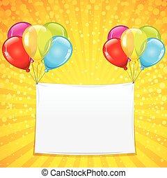 kleurrijke, achtergrond, viering