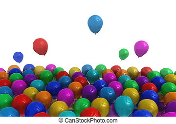 kleurrijke, ballons