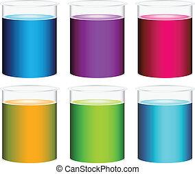 kleurrijke, bekers