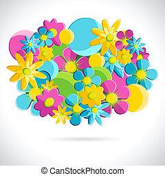 kleurrijke, bloem