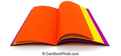kleurrijke, boek