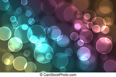 kleurrijke, bokeh