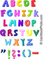 kleurrijke, brieven