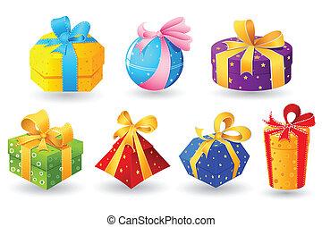 kleurrijke, cadeau