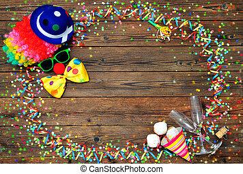 kleurrijke, carnaval, achtergrond