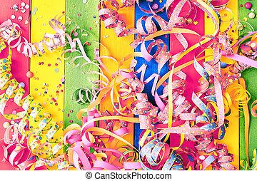 kleurrijke, carnaval, achtergrond, wimpels