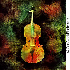 kleurrijke, cello