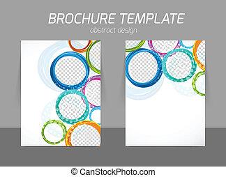 kleurrijke, cirkels, informatieboekje