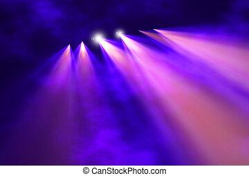kleurrijke, concert, verlichting