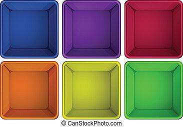 kleurrijke, containers