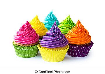 kleurrijke, cupcakes
