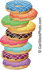 kleurrijke, doughnuts