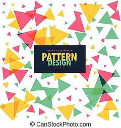 kleurrijke, driehoeken, achtergrond, grometric