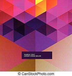 kleurrijke, driehoeken, achtergrond