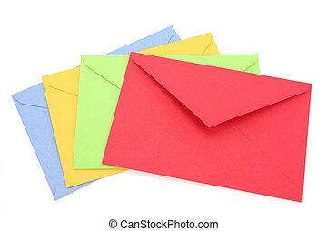 kleurrijke, enveloppen
