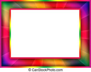 kleurrijke, frame