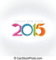 kleurrijke, geplaatste, ontwerp, achtergrond, 2015, witte