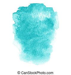 kleurrijke, geverfde, abstract, inkt, textuur, hand, watercolor, vlek, nat