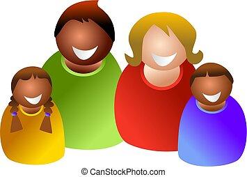 kleurrijke, gezin