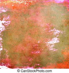 kleurrijke, grunge, achtergrond, textuur