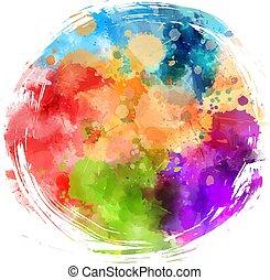 kleurrijke, grunge, ronde, achtergrond