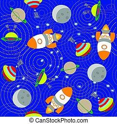 kleurrijke, hand, vector, getrokken, doodles, spotprent