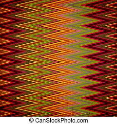kleurrijke, helder, zag, achtergrond, strepen, zig, armoedig, textiel, gemaakt
