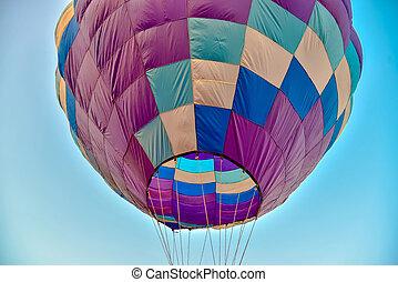kleurrijke, hete luchtballons, vrijstaand, op wit, achtergrond