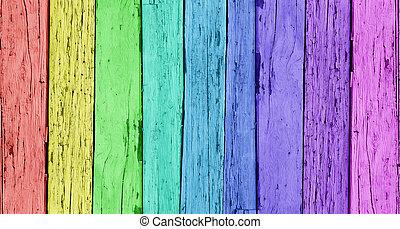 kleurrijke, houten, achtergrond