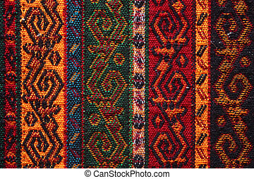 kleurrijke, indiër, textiel