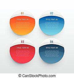 kleurrijke, infographic, banieren, set, mal