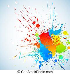 kleurrijke, inkt