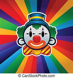 kleurrijke, jarig, clown
