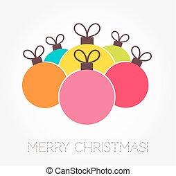 kleurrijke, kerstballen, baubles