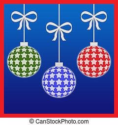 kleurrijke, kerstballen