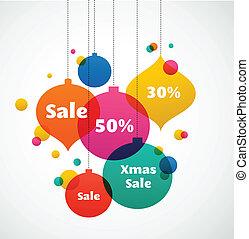 kleurrijke, -, kerstmis, achtergrond, verkoop