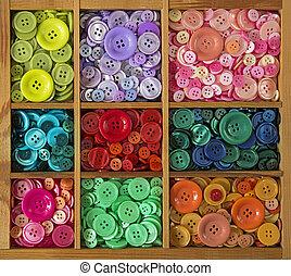 kleurrijke, knopen