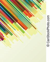 kleurrijke, lijnen, abstract, vector, achtergrond, concept