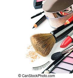 kleurrijke, makeup, producten
