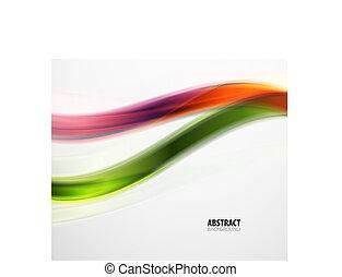 kleurrijke, model, abstract, moderne, lijnen, golvend