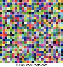 kleurrijke, model, abstract, seamless, achtergrond, digitale , pixels