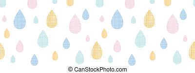 kleurrijke, model, abstract, seamless, regen, textiel, achtergrond, horizontaal, druppels