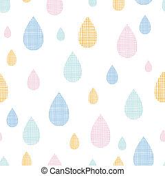 kleurrijke, model, abstract, seamless, regen, textiel, vector, achtergrond, druppels