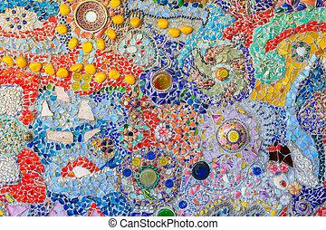 kleurrijke, model, abstract, textuur, achtergrond, grint, mozaïek