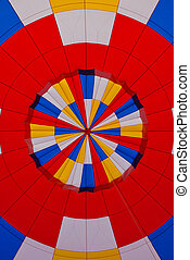 kleurrijke, motieven, van, een, verhite lucht ballon