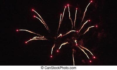 kleurrijke, motion., vertragen, vuurwerk